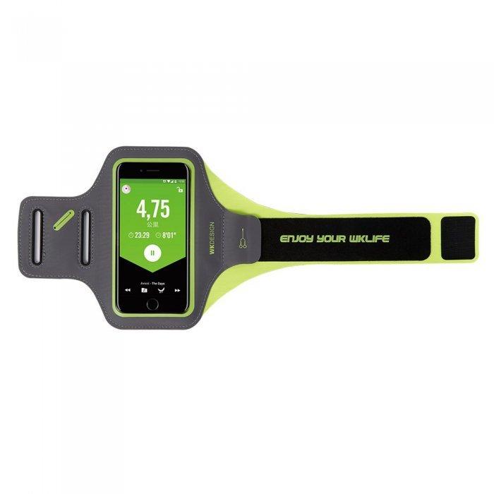 """Спортивный чехол на бицепс WK Design Lerun зеленый для смартфонов диагональю до 5.5"""""""