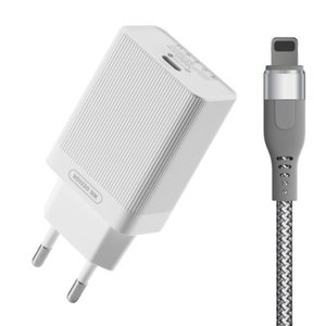 Сетевое ЗУ WK Design Lochon PD Charger EU 18W с Type-C кабелем белое