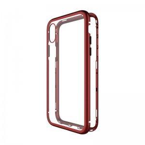 Стеклянный чехол WK Design Magnets красный для iPhone XS Max