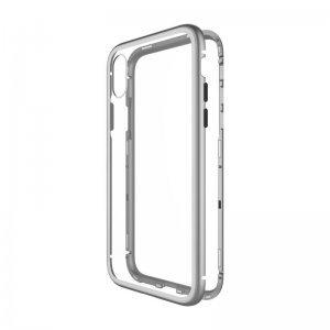 Стеклянный чехол WK Design Magnets серебристый для iPhone XS Max