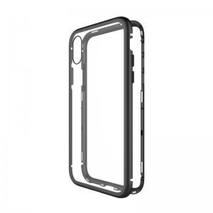 Стеклянный чехол WK Design Magnets чёрный для iPhone XS Max