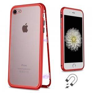 Стеклянный чехол WK Design Magnets красный для iPhone 7/8