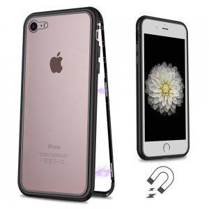 Стеклянный чехол WK Design Magnets черный для iPhone 7/8