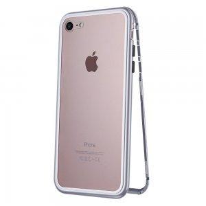 Стеклянный чехол WK Design Magnets серебристый для iPhone 7/8/SE 2020