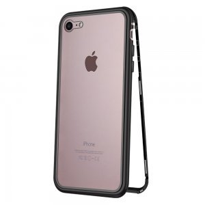 Стеклянный чехол WK Design Magnets черный для iPhone 7/8/SE 2020