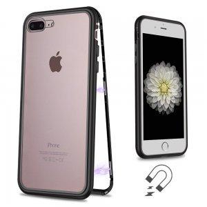 Стеклянный чехол WK Design Magnets черный для iPhone 7 Plus/8 Plus
