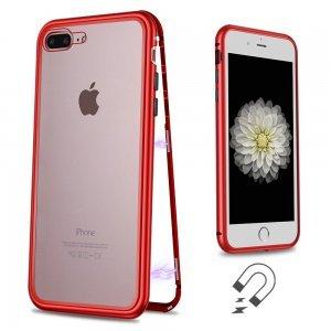 Стеклянный чехол WK Design Magnets красный для iPhone 7 Plus/8 Plus