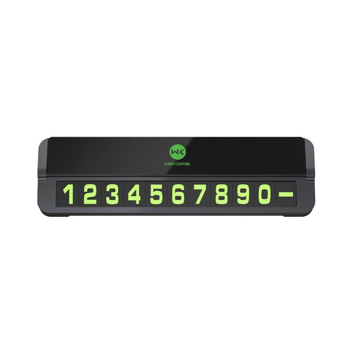 Парковочная карта (автовизитка) WK Design Metal Parking Sign (WT-SP06-BK) черная