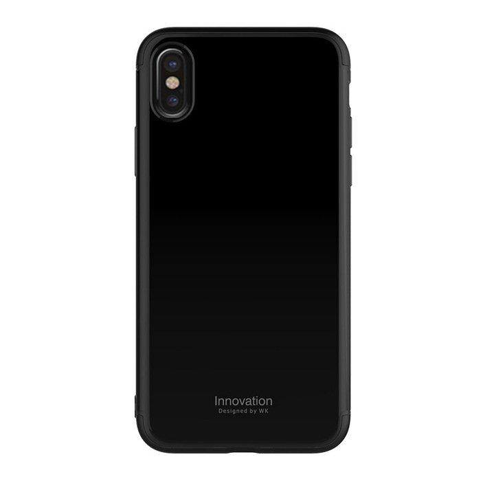 Пластиковый чехол WK Design Roxy чёрный для iPhone X/XS
