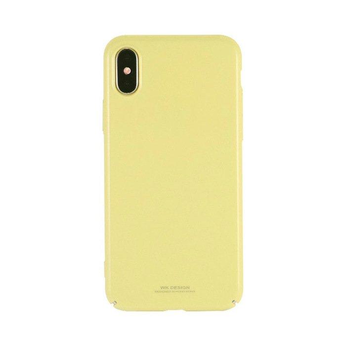 Пластиковый чехол WK Design Sugar желтый для iPhone X/XS