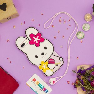 Детский чехол WK Design Kawaii белый кролик для iPhone 6 Plus/6S Plus/7 Plus/8 Plus