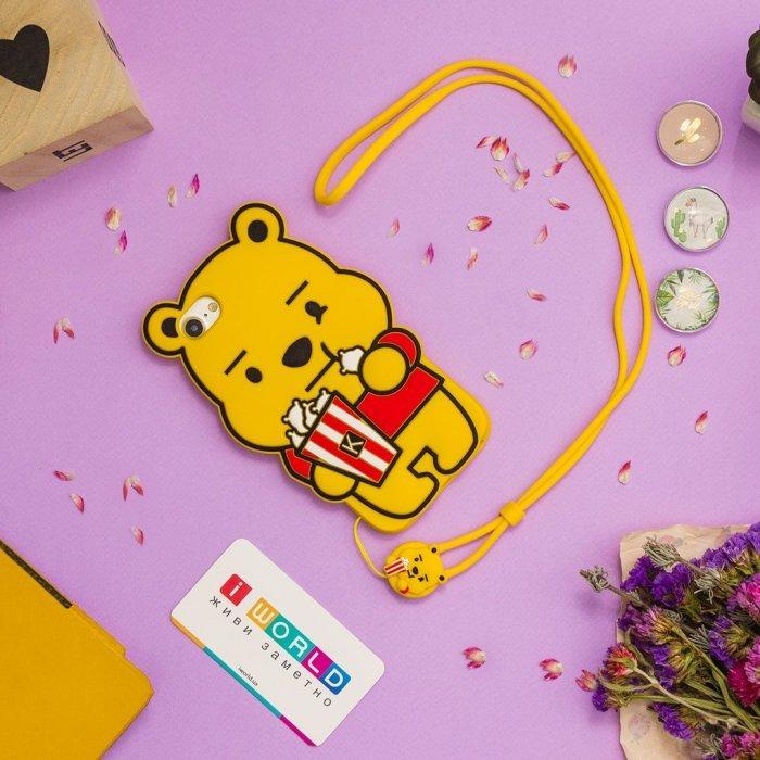 Детский чехол WK Design Kawaii Винни Пух желтый для iPhone 6/6S/7/8