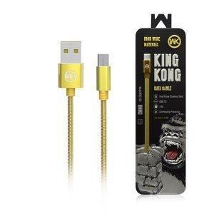 Кабель WK Kingkong Micro-USB золотой