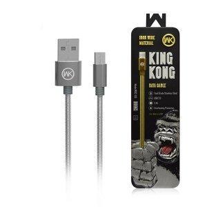 Кабель WK Kingkong Micro-USB серебристый