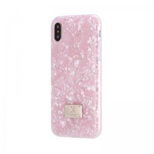 Блестящий чехол WK Shell розовый для iPhone X
