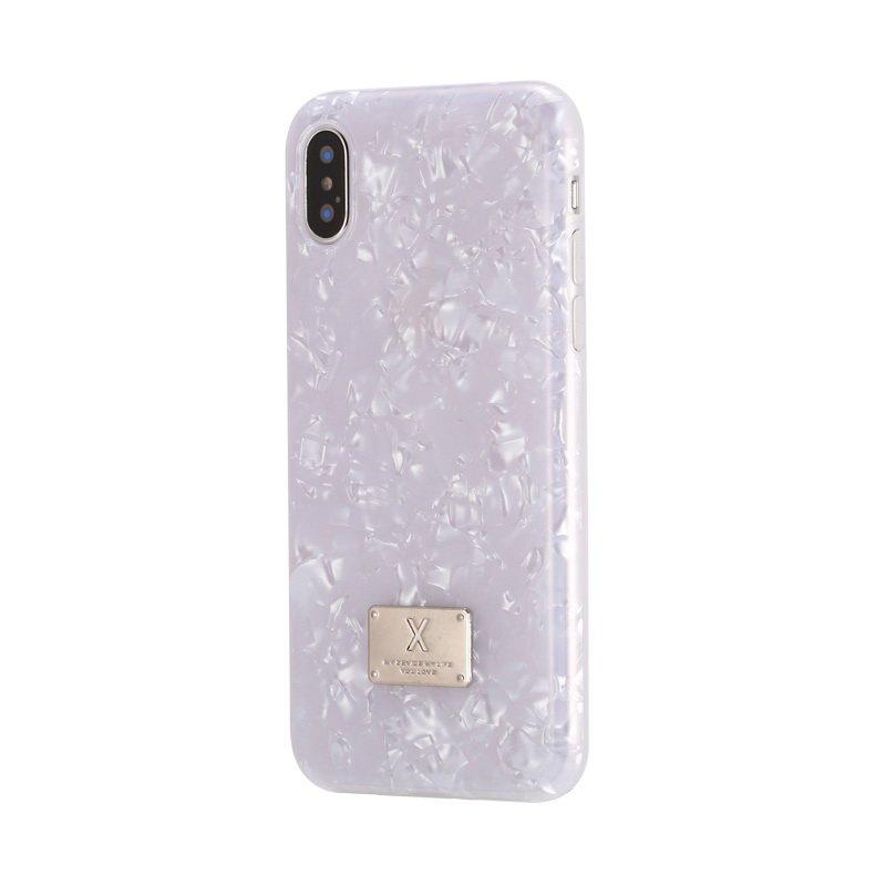 Блестящий чехол WK Shell белый для iPhone 8 Plus/7 Plus