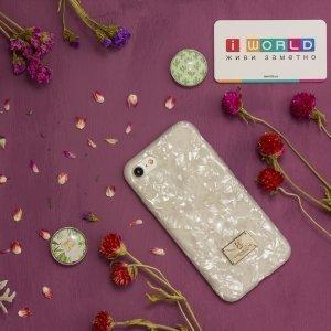 Блестящий чехол WK Shell белый для iPhone 8/7