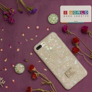 Блестящий чехол WK Shell разноцветный для iPhone 8 Plus/7 Plus