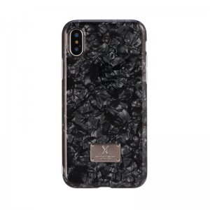 Блестящий чехол WK Shell черный для iPhone X