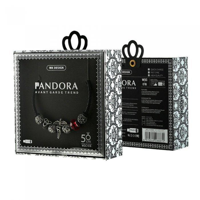 Lightning кабель WK Pandora Venus Cross Medal черный