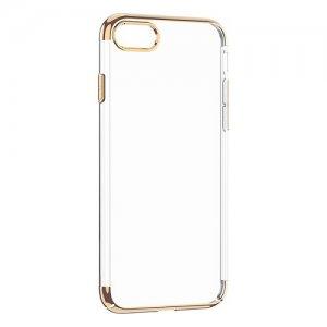Чехол WK ZERO прозрачный + золотой для iPhone 7/8/SE 2020