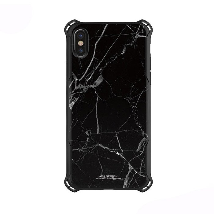Пластиковый чехол WK Design Earl Marble чёрный для iPhone X/XS