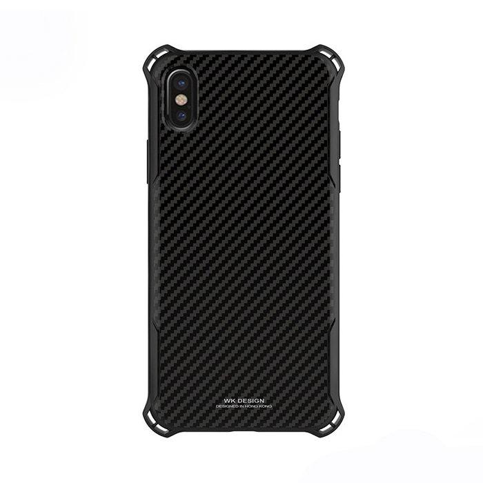 Пластиковый чехол WK Design Earl Chrome чёрный для iPhone X/XS