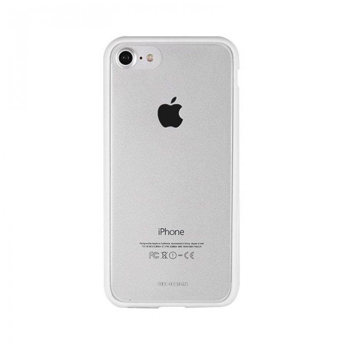 Силиконовый чехол WK Fluxay белый для iPhone 8/7