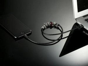 Lightning кабель WK Pandora Venus Fallen Angels черный