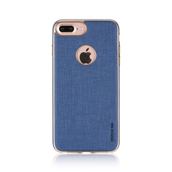 Кожаный чехол WK Splendor синий для iPhone 8/7