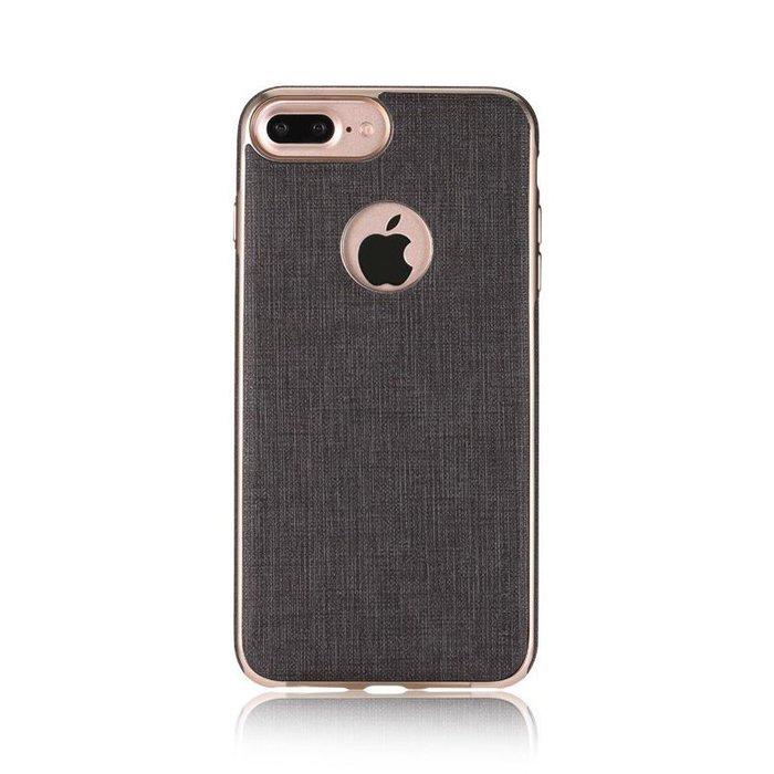 Кожаный чехол WK Splendor серый для iPhone 8/7