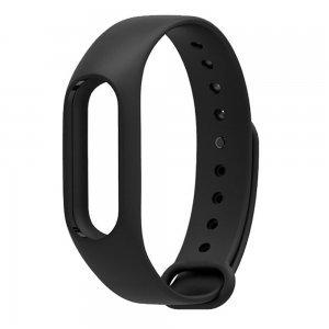 Ремешок для фитнес браслета Xiaomi Mi Band 2 чёрный