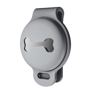 Чехол на ошейник Yosyn Back Clip серый для AirTag