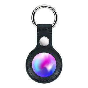 Чехол Yosyn Leather Key Ring черный для AirTag