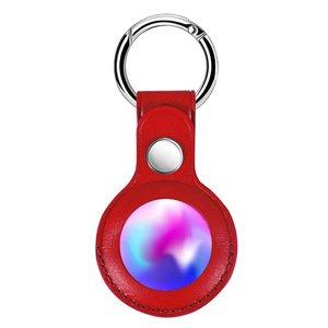 Чехол Yosyn Leather Key Ring красный для AirTag