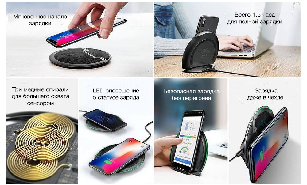 Беспроводное ЗУ Baseus Foldable Multifunction Wireless Charger