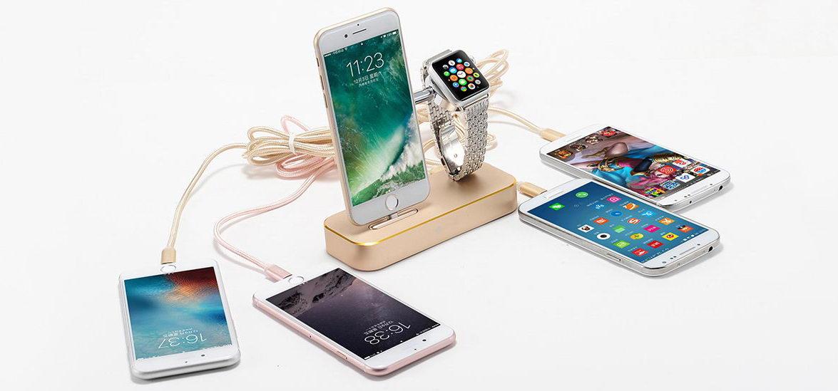 Док-станция Coteetci Base Hub B18 для зарядки iPhone, Apple Watch и еще 4 устройств одновременно