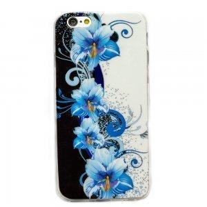 Чехол-накладка для Apple iPhone 6 - синие лилии