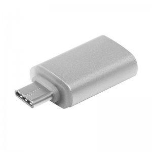 Переходник с USB на Type-C - COTEetCI M39 серебристый